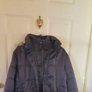 Winter Jacket with Faux fur detachable Hood